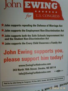 John Ewing's Flyer at Heartland Pride