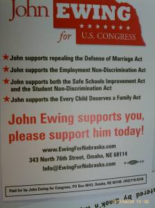 John Ewing Supports LGBT Issues, Please Support Him Today!
